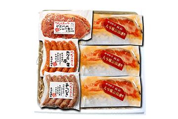 つなんポーク味噌漬「鶴齢」粕漬4種セット