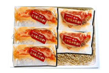 「鶴齢」大吟醸粕漬け2種うおづけセット