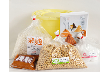 味噌作り材料セット 4kg用樽付き